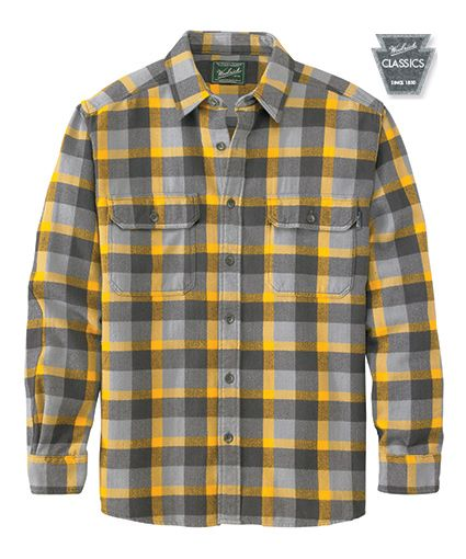 890b9f6ef Men's Oxbow Bend Plaid Flannel Shirt in Frost Gray by WOOLRICH® The  Original Outdoor Clothing Company
