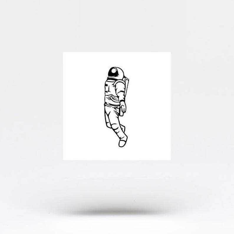 Astronaut Temporary Tattoo Set of 3 | Etsy