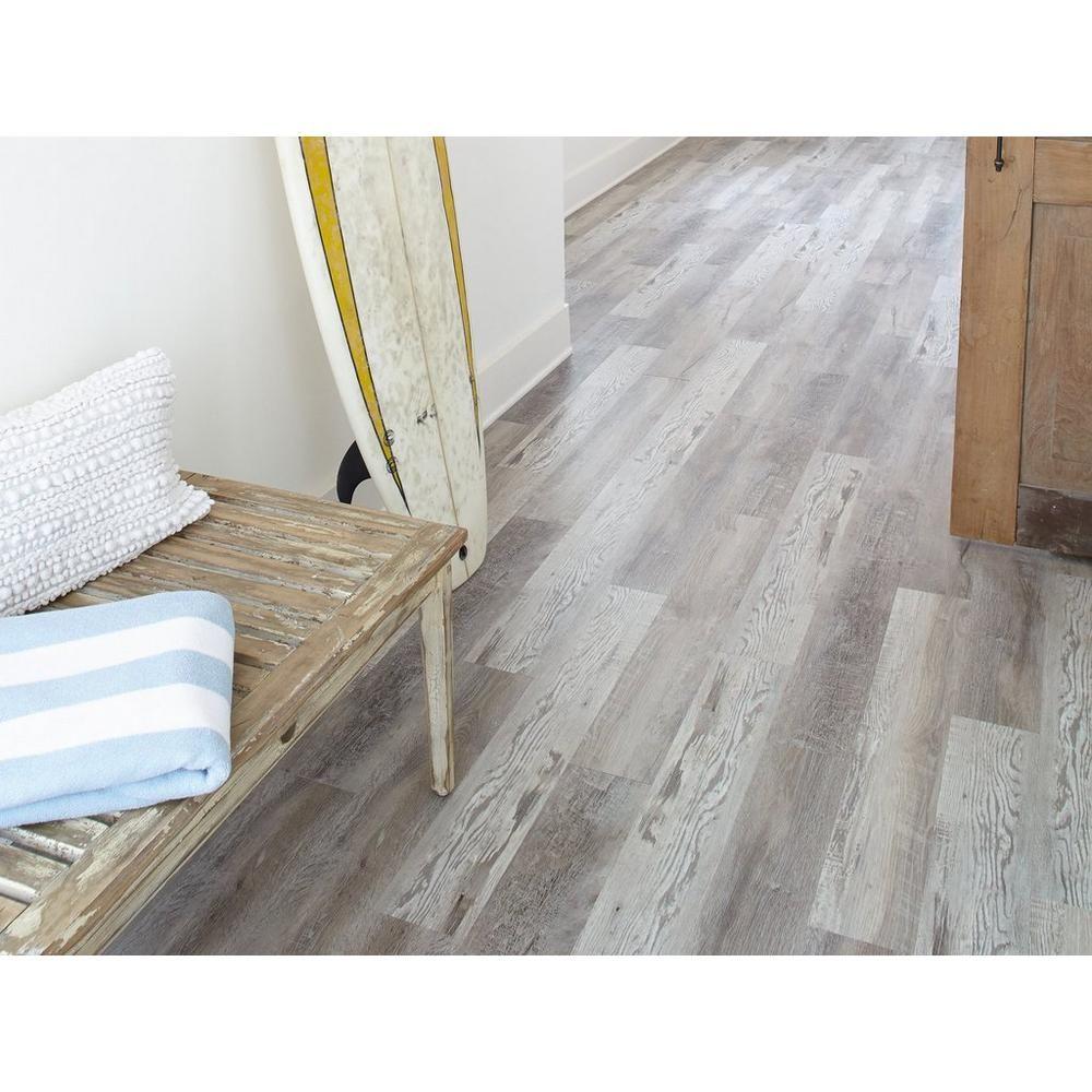 Highland Gray Rigid Core Luxury Vinyl Plank Foam Back In 2020 Luxury Vinyl Plank Vinyl Plank Waterproof Laminate Flooring