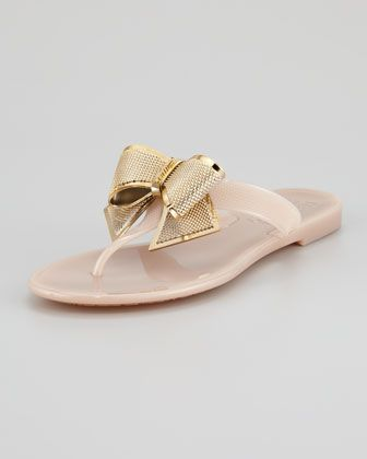 7fe6fc738c1a Bali Metal Bow Jelly Sandal