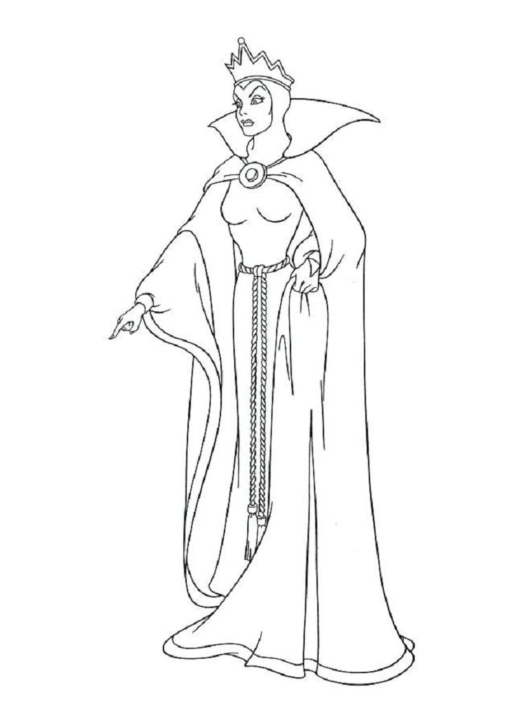 Evil Queen Coloring Pages Snow White Coloring Pages Disney Coloring Pages Witch Coloring Pages