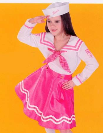 Barbie Costumes Childs Barbie Sailor Costume. includes: hat and ...