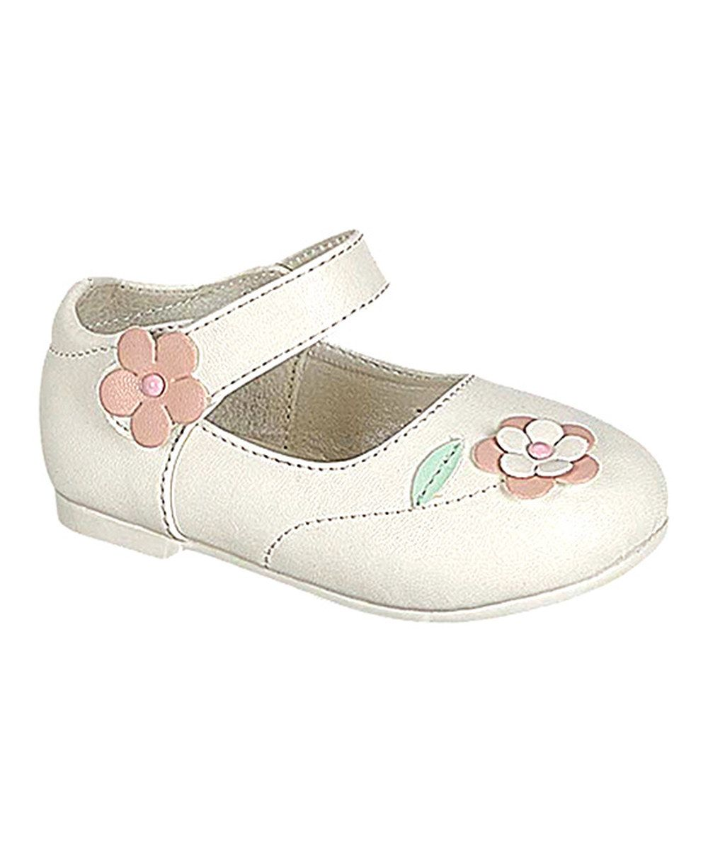 Look at this PINKY FOOTWEAR White Floral Sian Mary Jane on #zulily today!
