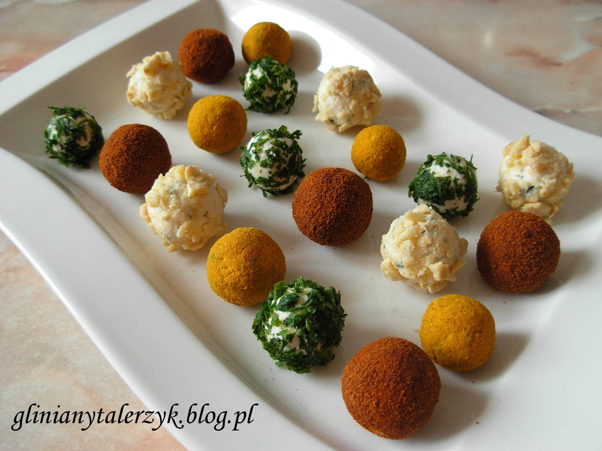 kolorowe serowe kuleczki Przekąski, Jedzenie, Przystawki