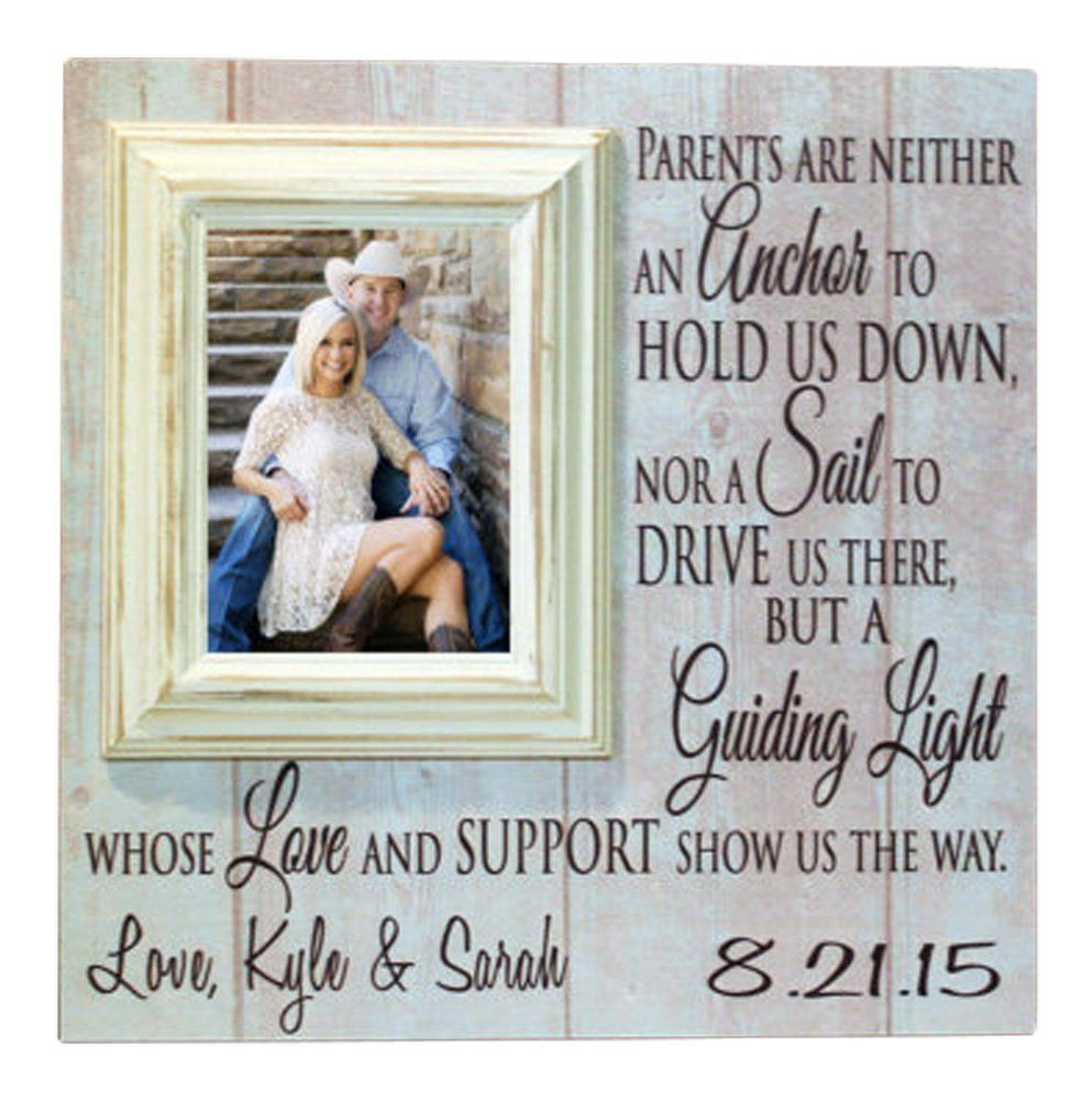 Picture frame personalized for parents of bride or groom wedding picture frame personalized for parents of bride or groom wedding thank you gift for parents jeuxipadfo Choice Image