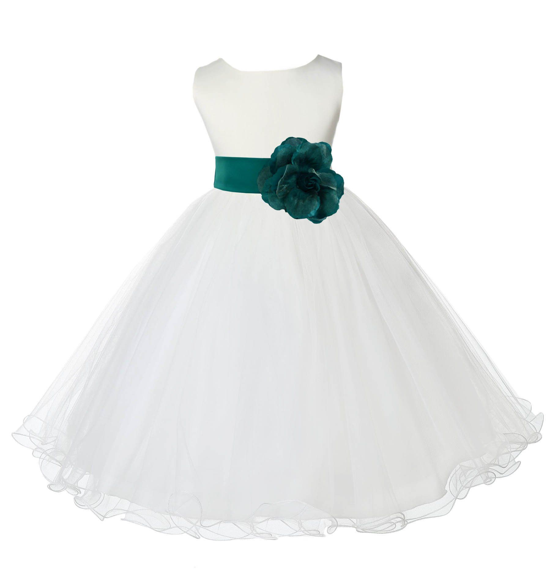 IVORY Flower Girl Dress Wedding Dance Party Formal Recital Graduation Pageant