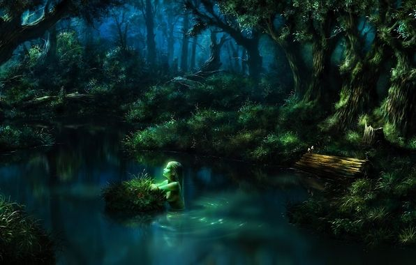 Fantasy Forest Night Fireflies Google Search Fantasy Landscape Fantasy Art Landscapes Forest Pictures