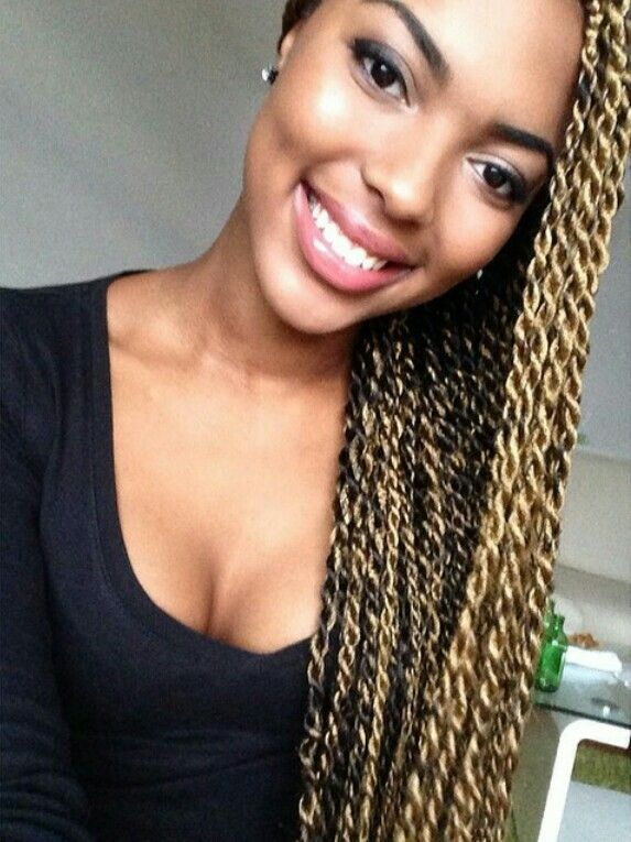 Blonde Senegalese Twists Weave Hairstyles Box Braid Hair