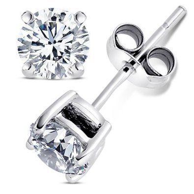 2 00 Carat Cubic Zirconia Earrings Set In 925 Sterling Silver Nickel Free Settings 6 50