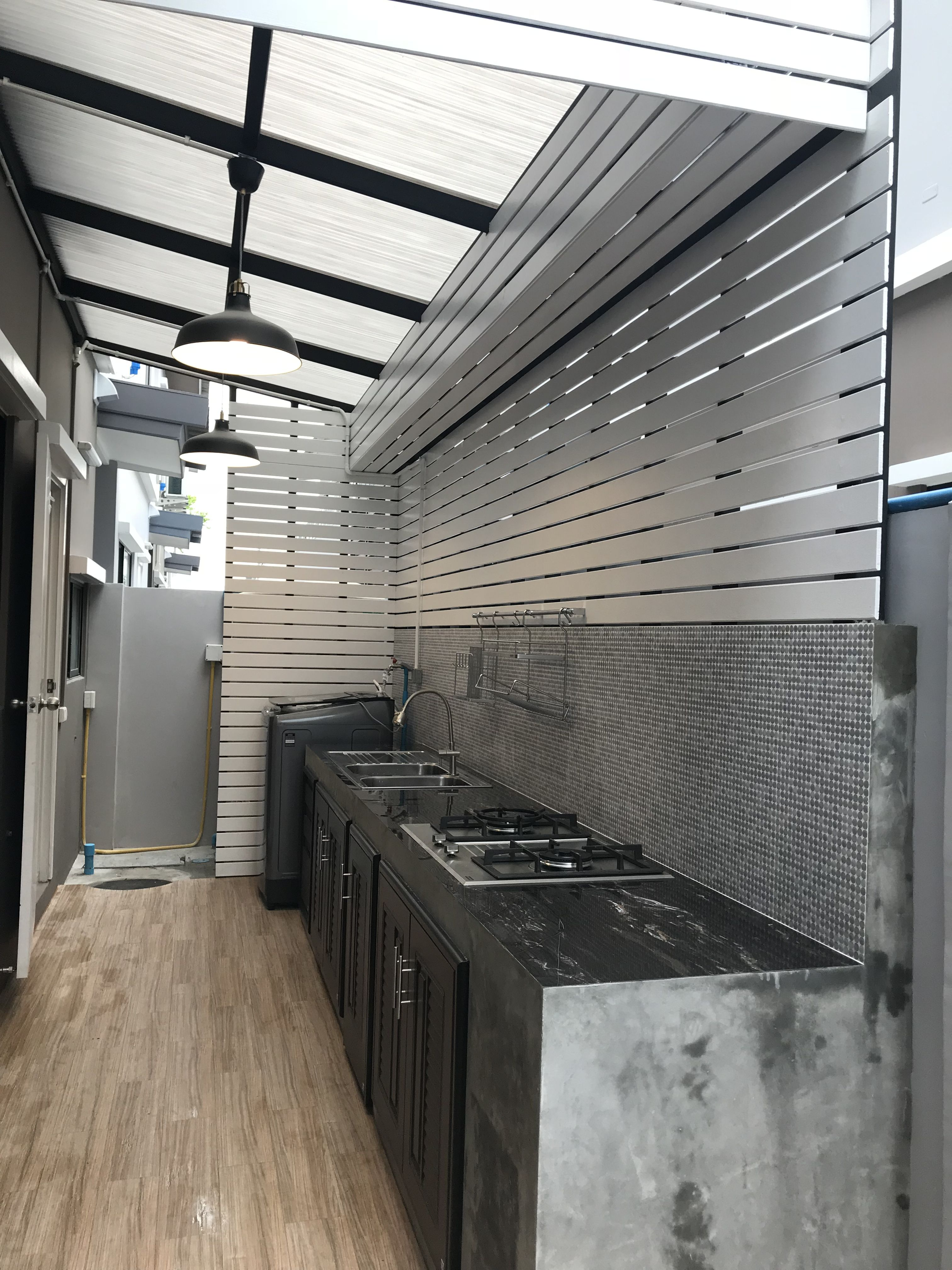 Extension Simple Outdoor Dirty Kitchen Design Philippines