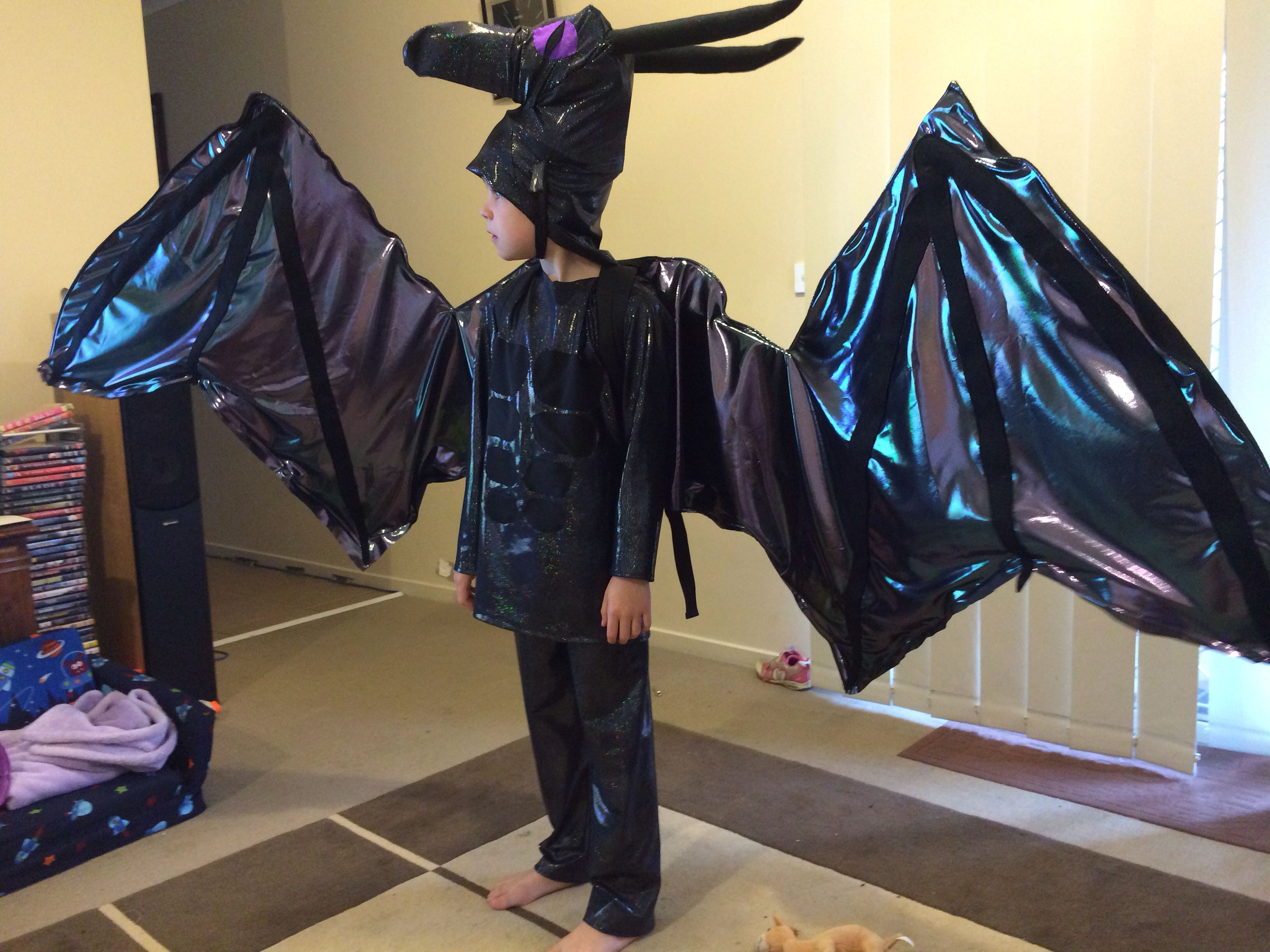 My son wearing the Minecraft Ender Dragon costume I made ...
