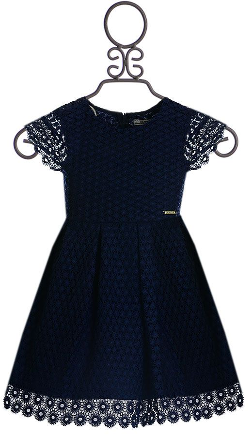 bbb78ccdbf Mayoral Short Sleeve Lace Dress in Navy