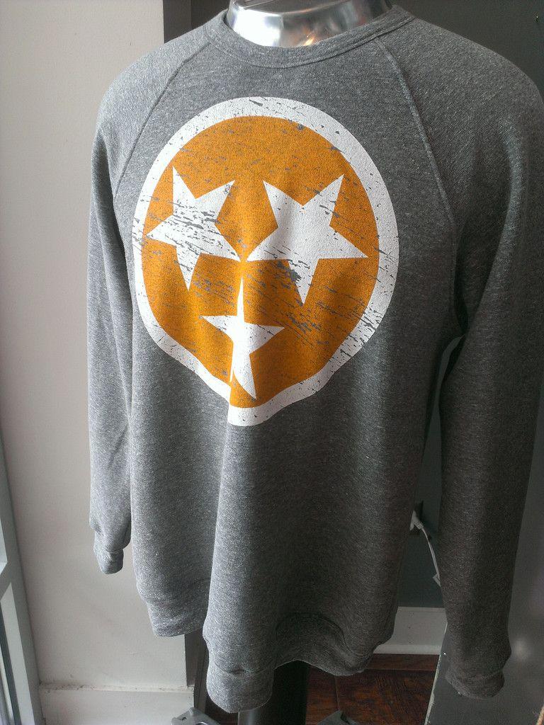 Gray Tn Flag Crew Neck Sweatshirt Crew Neck Sweatshirt Sweatshirts Tennessee Fashion [ 1024 x 768 Pixel ]