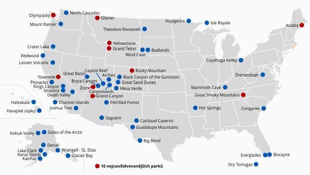 Narodni Parky Usa Prehled Informace Mapa A Vstupne Narodni