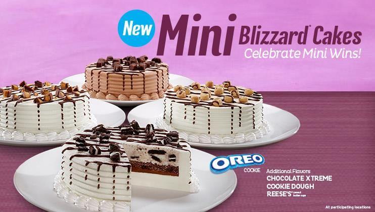 Dairy queen build a cake cake ice cream desserts