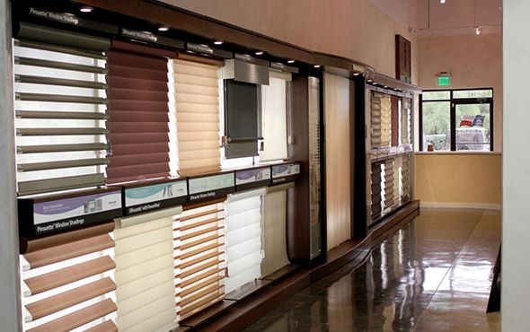 Wall Of Hunter Douglas Product Displays At Window Fashions
