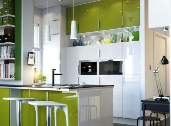 küchenschränke lackieren | kochkor.info. ideen : kühles ... - Wandgestaltung Mit Farbe Küche