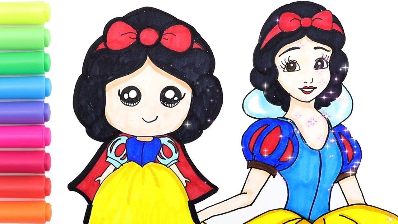 How To Draw Disney Princess Snow White Cute And Easy Snow White Coloring Disney Princess Coloring Pages Disney Princess Colors Disney Princess Drawings