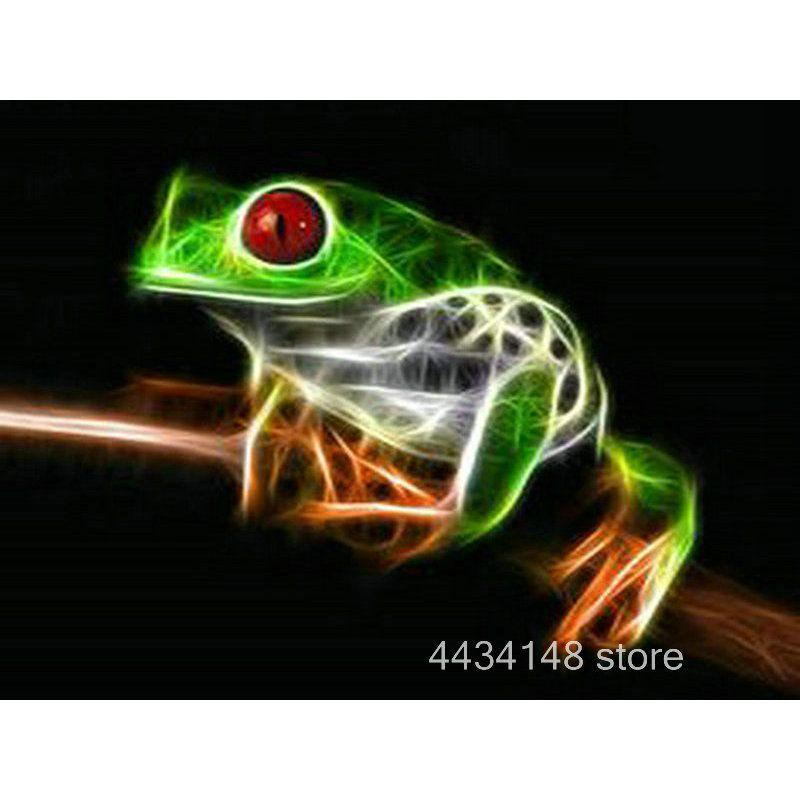 Frog 5D DIY Full Drill Diamond Painting Animal Cross Stitch Kit Decor Embroidery