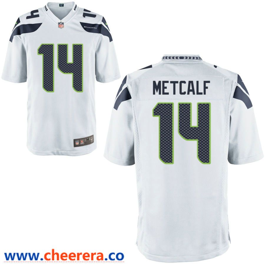 Men S Seattle Seahawks 14 Dk Metcalf White Road Stitched Nfl Nike Game Jersey Nfl Jerseys Nfl Amazing Shopping
