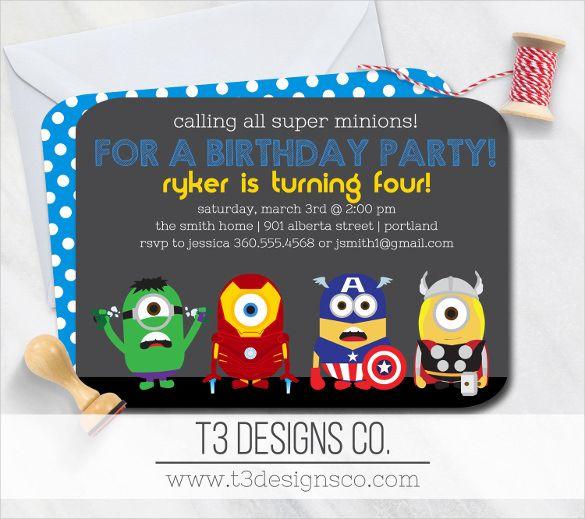21 superhero birthday invitation templates free sample example format download free premium templates