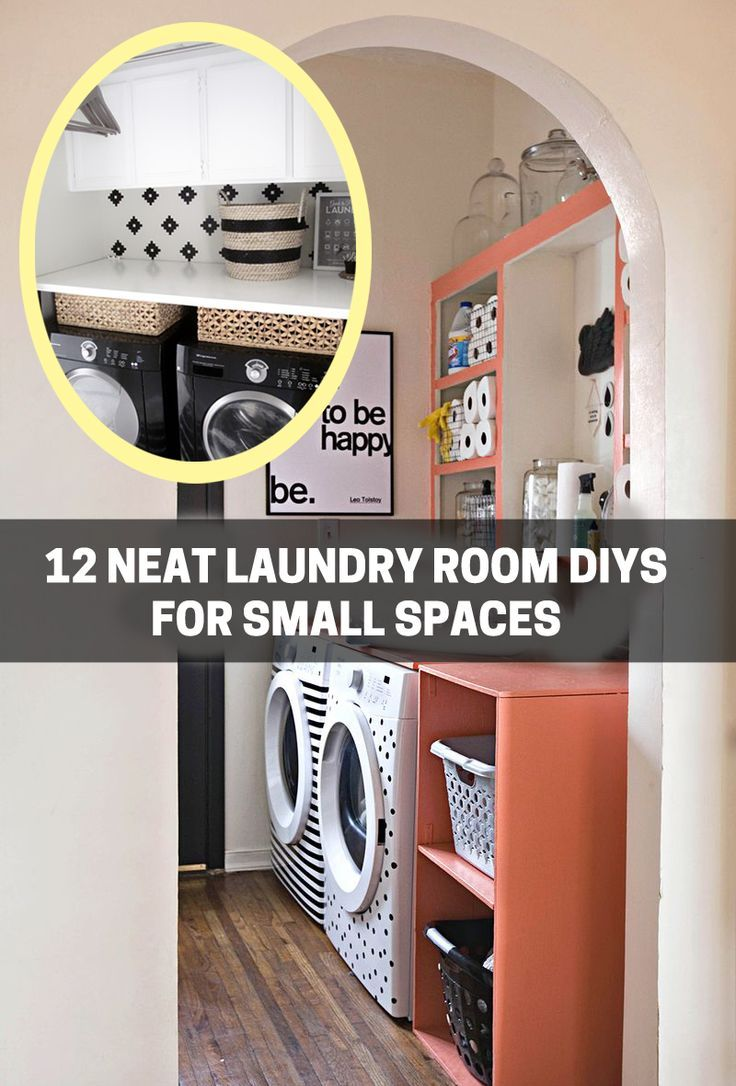 DIY-ify: 12 Neat Laundry Room DIYs for Small Spaces | Laundry rooms ...
