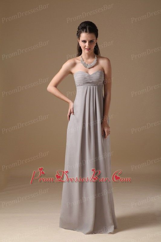 long beige Bridesmaid Dresses Under 100 | Grey Sweetheart Long ...