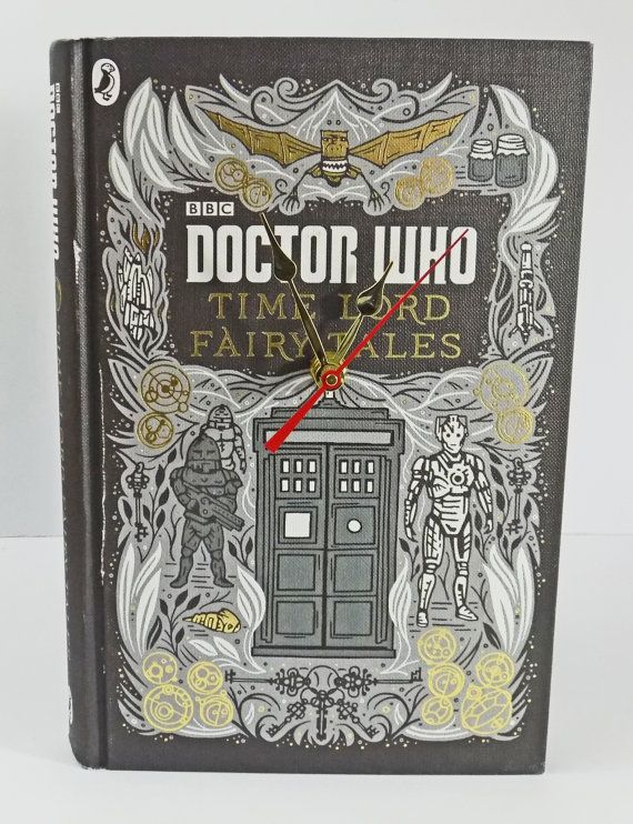 It's Doctor Who and the Time Lord Fairy Tales Book Clock! It's The Doctor! If you know a Doctor Who fan you know they will absolutely love this amazing book clock. There's only one, which makes it even more special.  https://www.etsy.com/listing/399619353/clock-doctor-who-clock-time-lord-fairy  #doctorwho #drwho #timelord #bbc #bookclock #mybooklandia