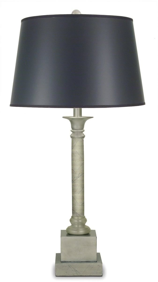 0 004963 31 H Genuine Stiffel 3 Way Table Lamp Silver Leaf Lamp
