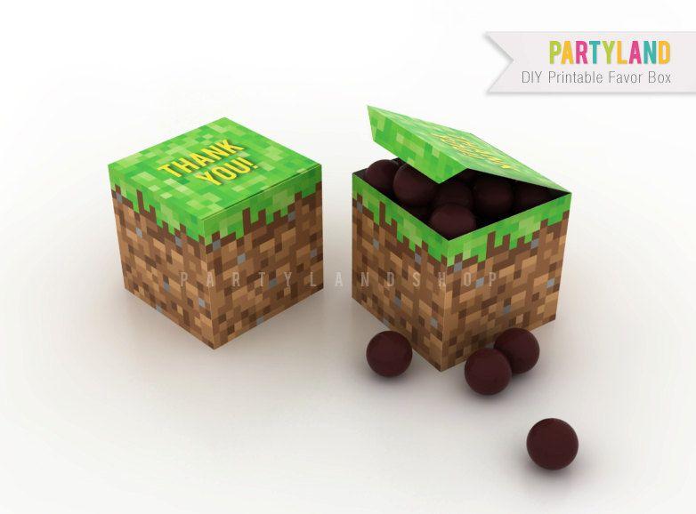 Minecraft party favor box. $9.00, via Etsy.