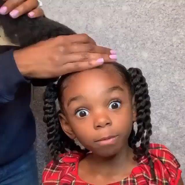 So cute in 2020   Black kids hairstyles, Kids curly ...