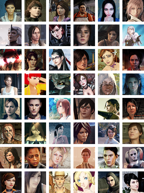 "kaniehtiio: ""collab piece with hythmknwy of favourite women in video games as voted by our followers after almost 300 responses """