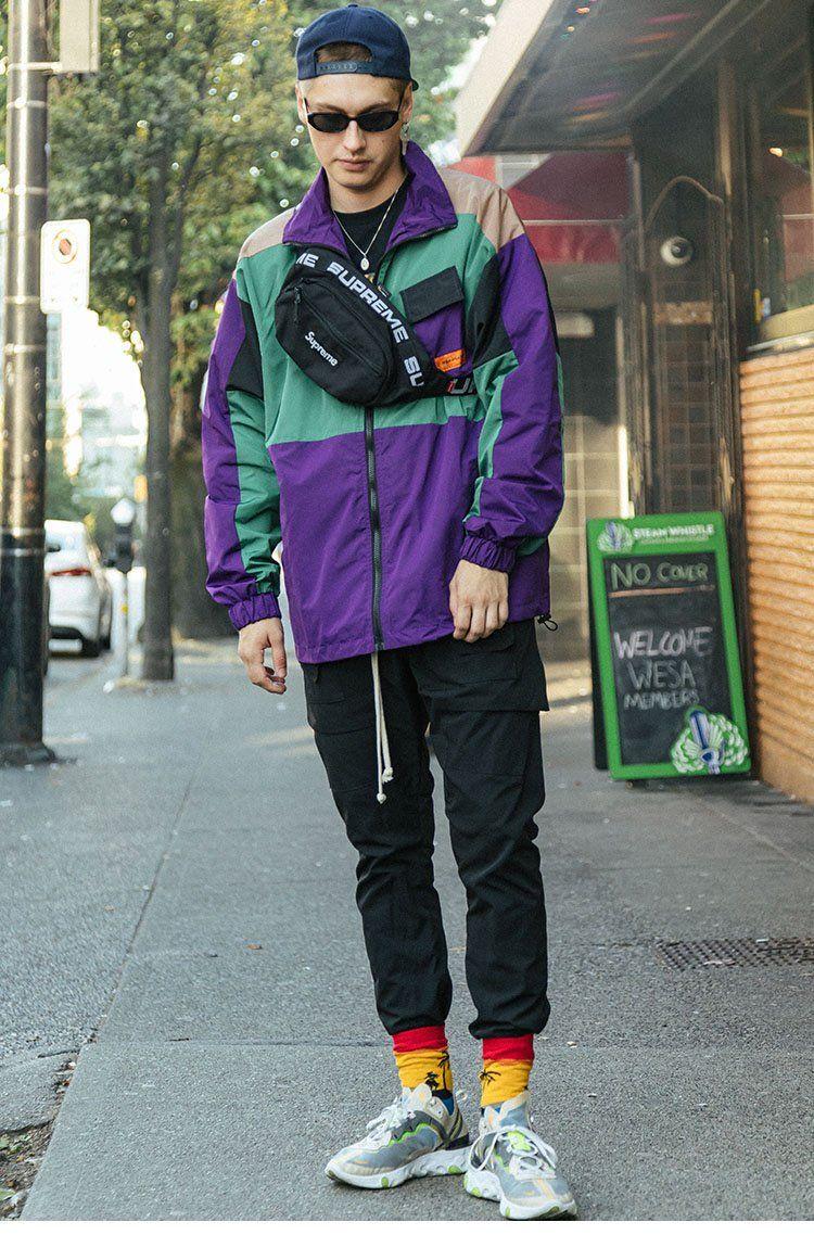 Vintage 1940s Color Block Swag Dress: Men's Hip Hop Streetwear Jacket Coat Retro Color Block