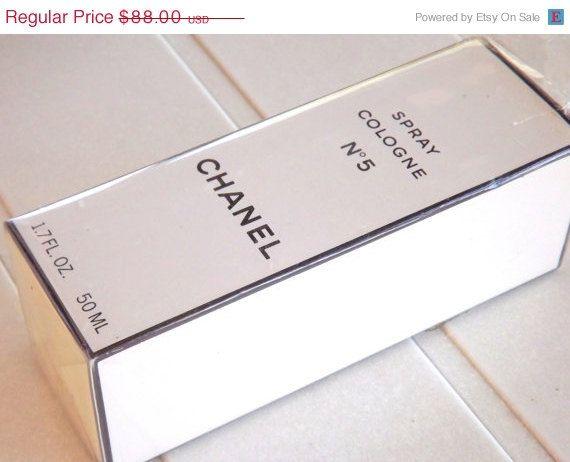 Chanel No 5 Spray Perfume in Original Box 1.7 fl by ForsythiaHill - like new pristine vintage