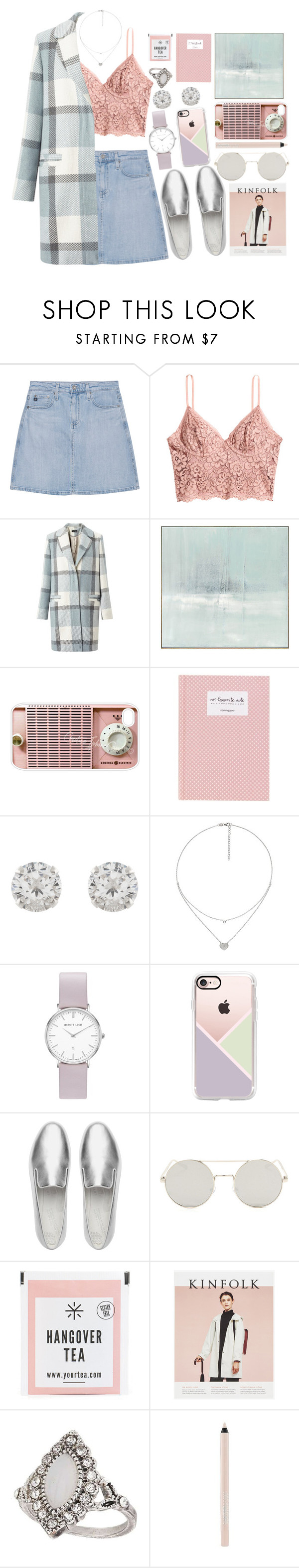 """""""Outfit (casual) #45"""" by tayscutts ❤ liked on Polyvore featuring AG Adriano Goldschmied, H&M, Miss Selfridge, Benson-Cobb Studios, Samsung, Accessorize, Folli Follie, Abbott Lyon, Casetify and FitFlop"""