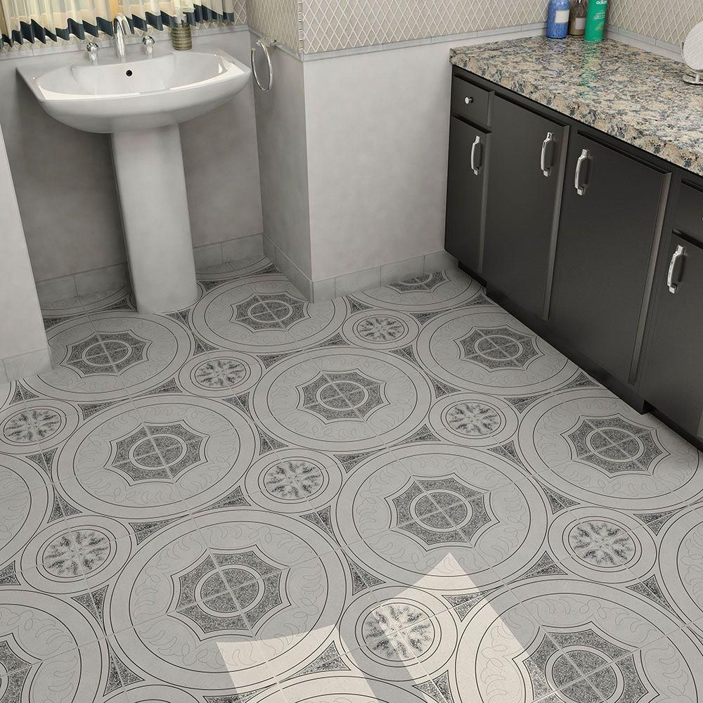Merola Tile Agadir Nero 12 1 2 In X 12 1 2 In Ceramic Floor And Wall Tile 11 29 Sq Ft Case Fcg12agn The Home Depot Ceramic Floor Floor And Wall Tile Flooring