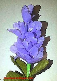 Cara Bikin Bunga Plastik : bikin, bunga, plastik, Membuat, Bunga, Lavender, Kantong, Plastik, Bekas, Bunga,, Tutorial, Kertas,, Kertas