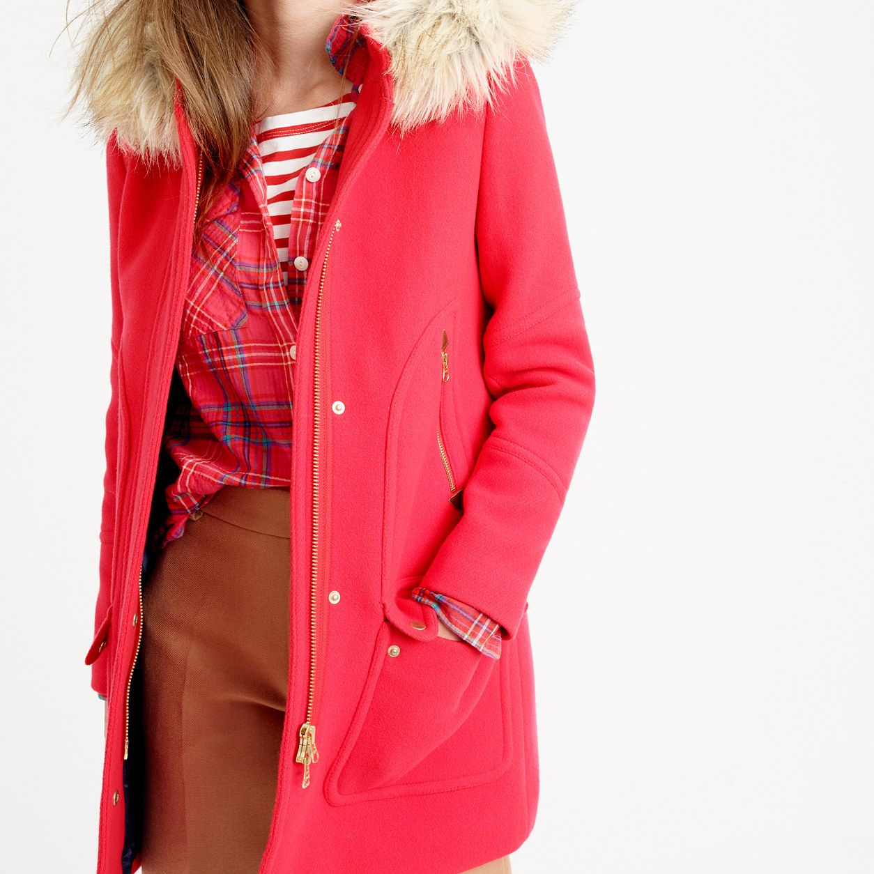 Red flannel around waist  Tall chateau parka in stadiumcloth  AllProducts  JCrew  Fall