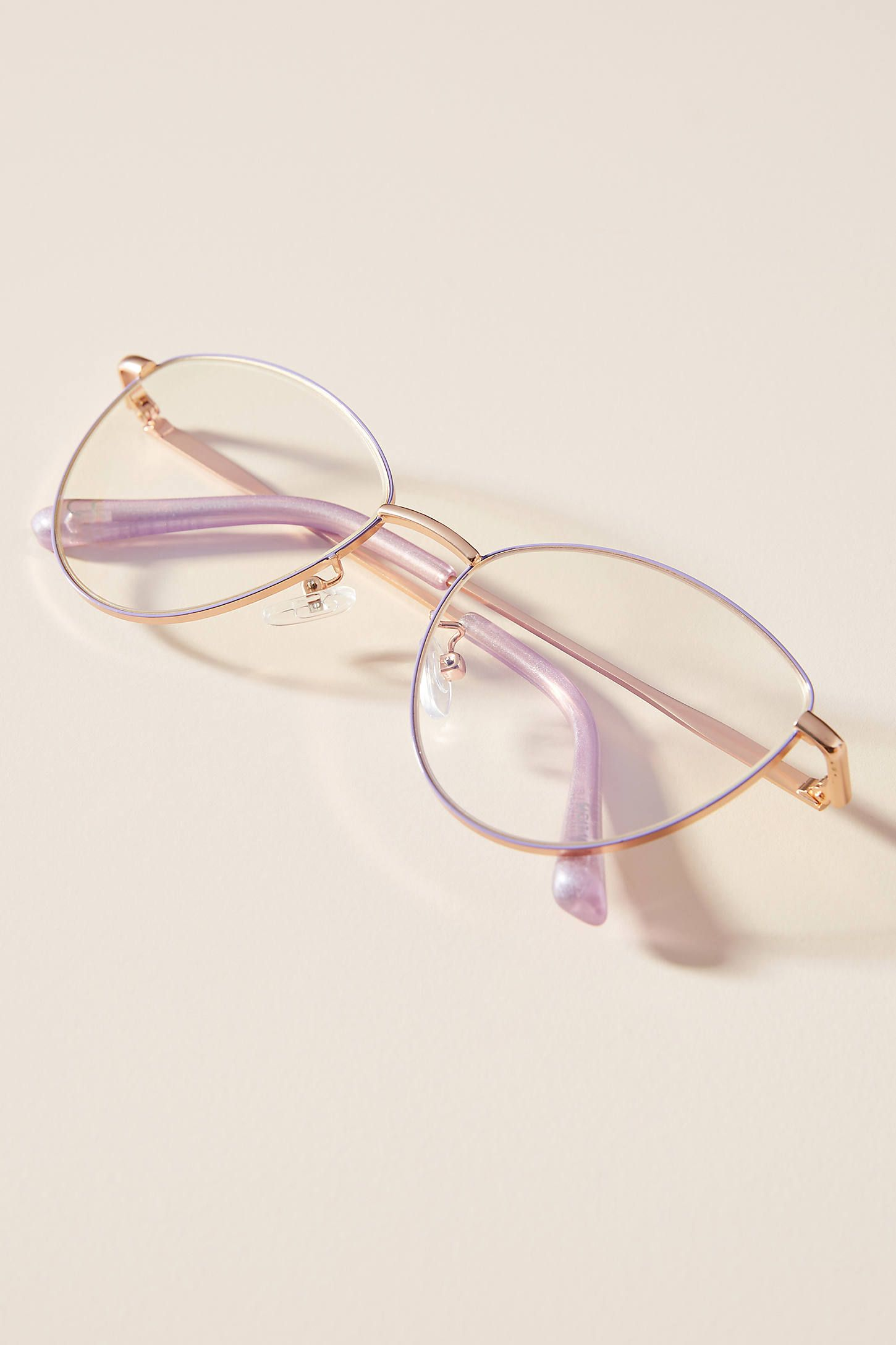 Photo of ZiGi + MARAiS Astrid Blue Light Glasses by Anthropologie in Purple Size: All, Eyewear