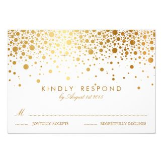 gold confetti invite