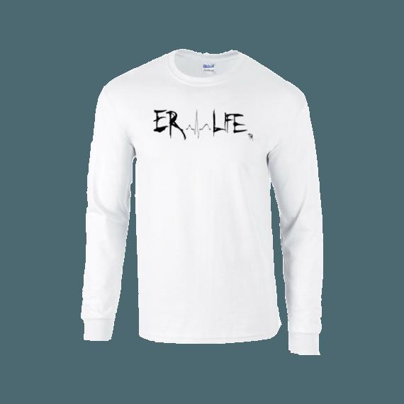 Er Life Women S Long Sleeve White Shirt White Long Sleeve Shirt Womens Long Sleeve Shirts Shirts
