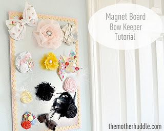 How fun is this! A   cute way to   have all the hairbows in one place!