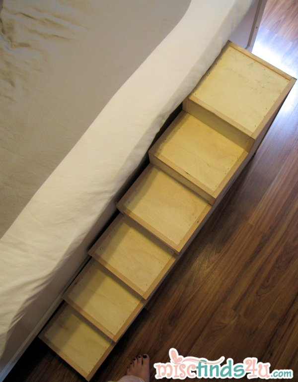 I Totally Think I Could Do This With The Cardboard Kitty Litter Boxes Spray  Painted And Glue Carpet Tiles On Steps. DIY Pet Stairs   Simple Steps You  Can ...