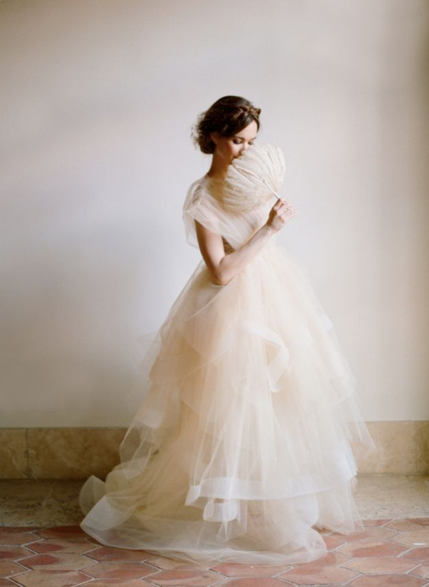 The way this dress appears to be made of gossamer and air.