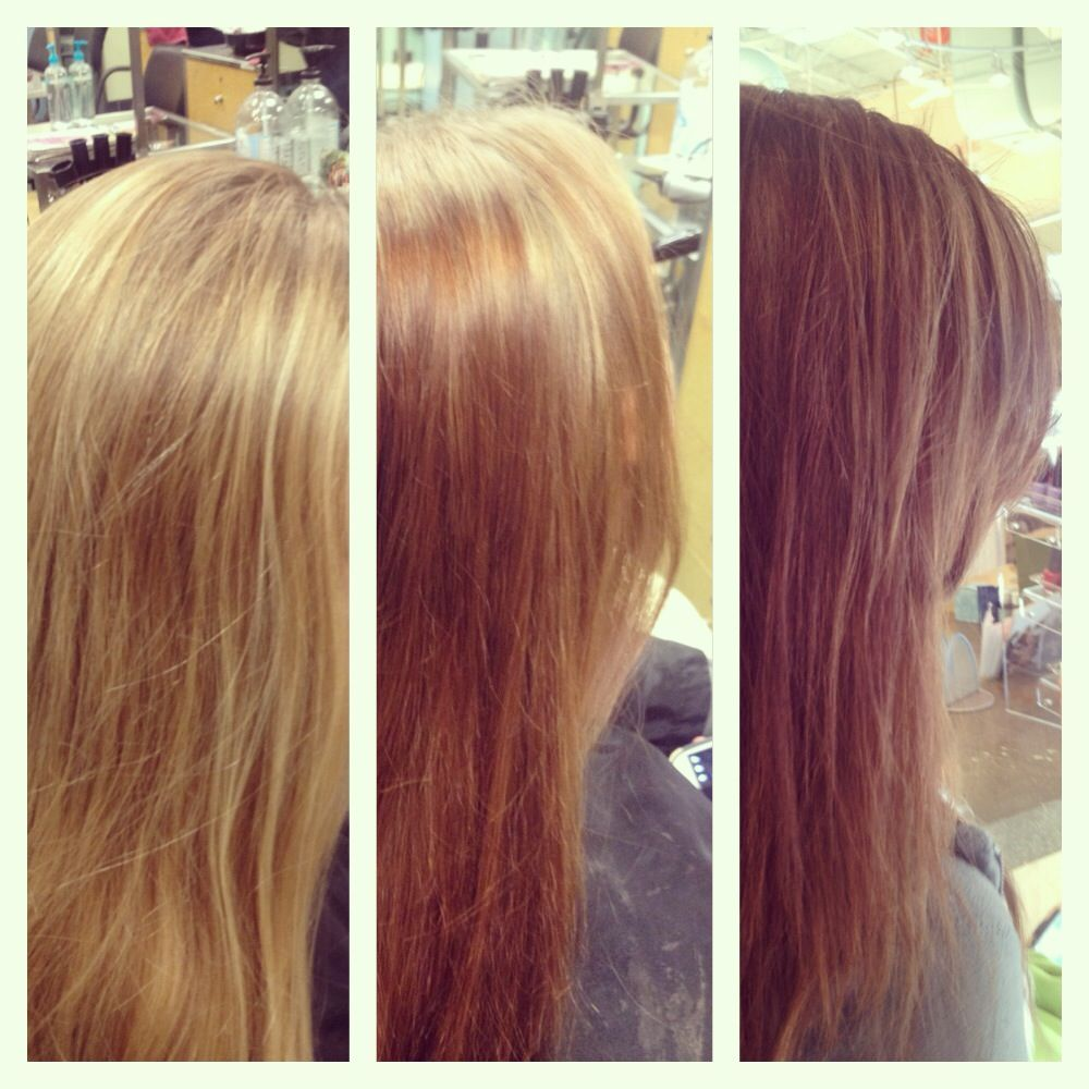 Before After The Filler And Final Double Process All Over Color