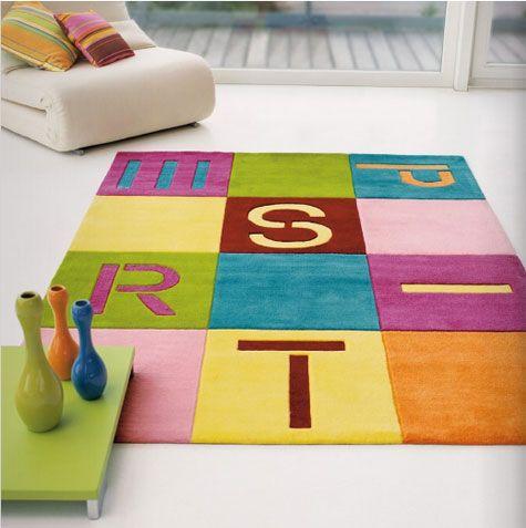 Alfombra infantil con letras for the home pinterest for Letras decoracion ikea