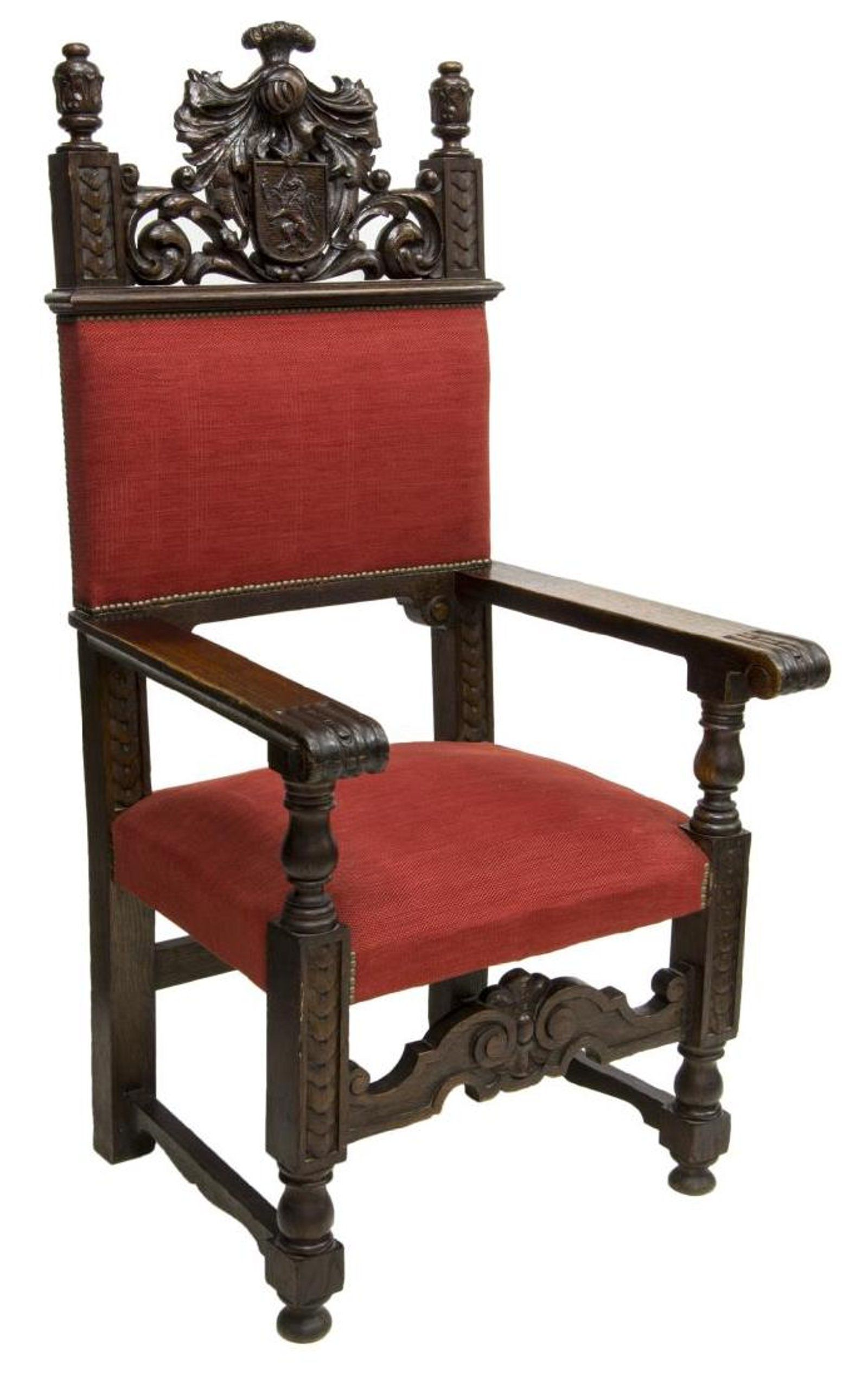 Chair In Spanish Spanish Renaissance Revival Oak Throne Armchair On Antique Spain