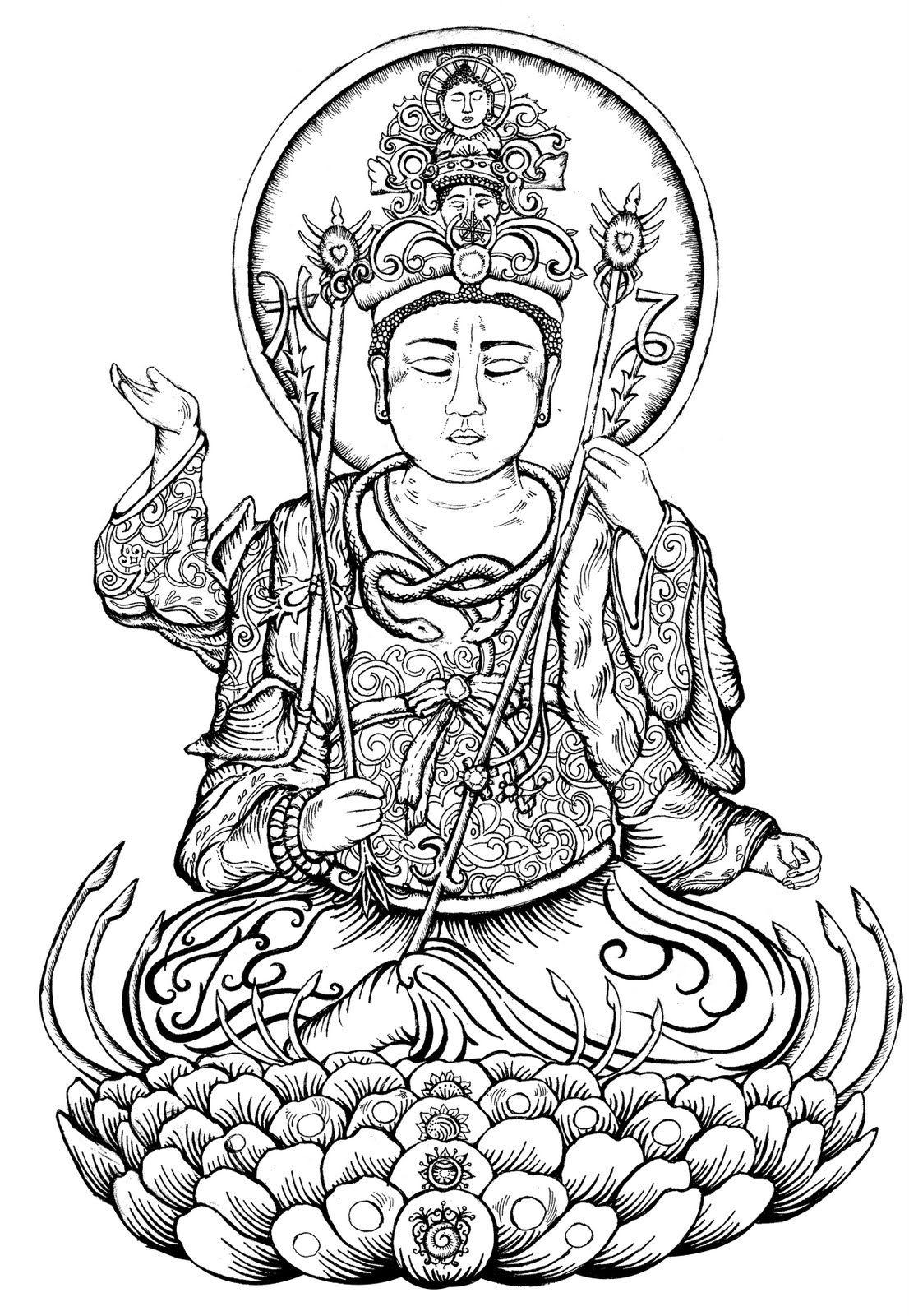 Coloring Page Hindu Mythology Buddha Gods And Goddesses 39