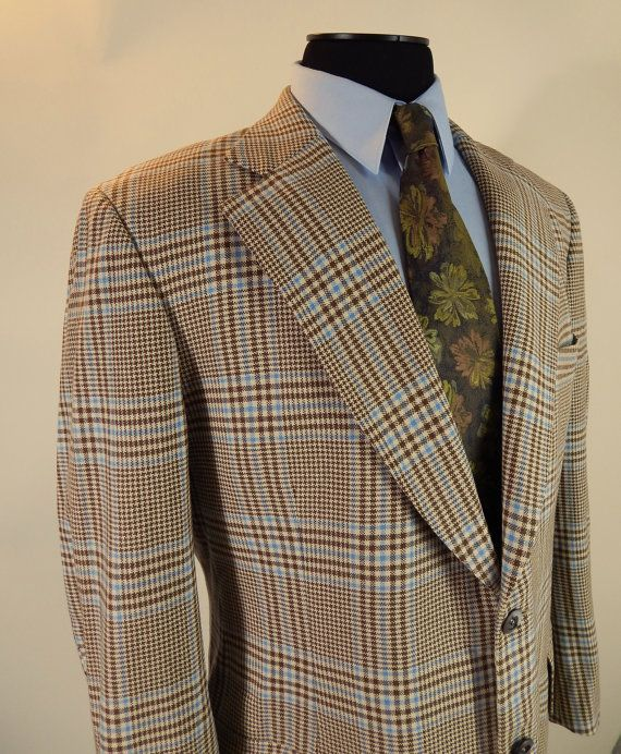 1970s pure cashmere glen plaid sport coat by Rembrandt.