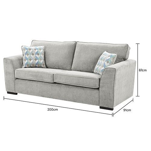 Tesco Direct Boston Large Sofa Light Grey